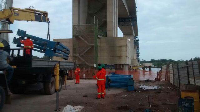 As obras da ponte sobre o rio Matapi serão retomadas