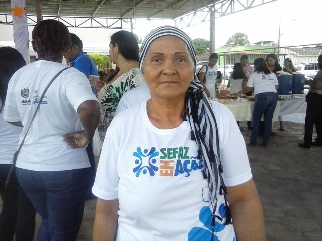 Ana Maria, de 60 anos, falou em nome dos pacientes