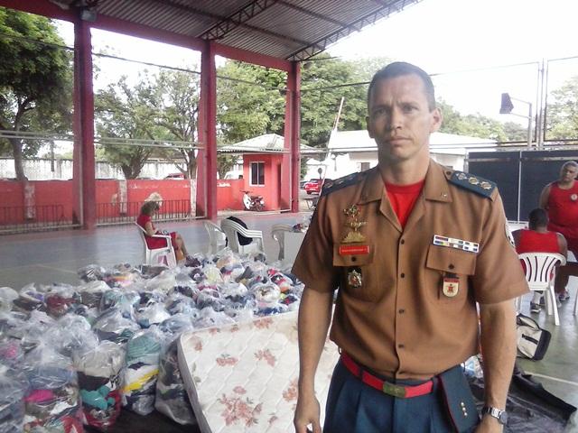 Tenente coronel Roberto Nery: o material doado deve estar em perfeito estado