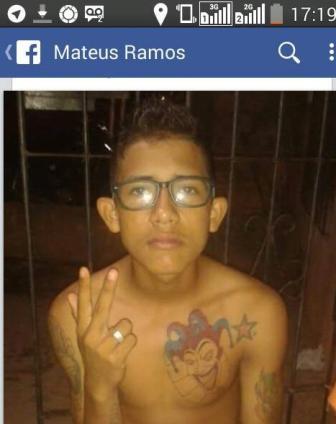 Mateusinho no Facebook: tatuagem famosa
