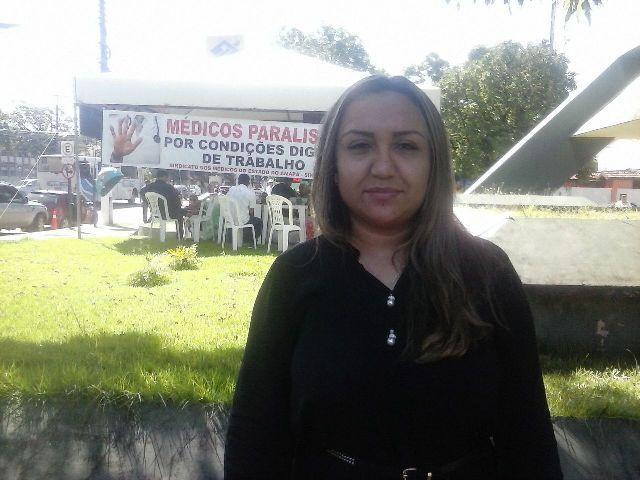 Helen Melo: esse protesto visa chamar atenção para os problemas