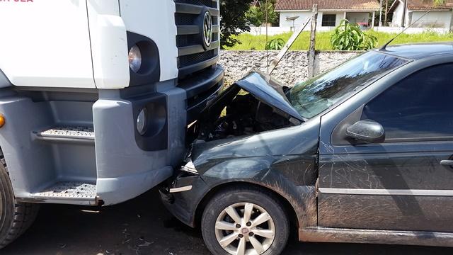 """""""Veio direto"""", disse o motorista do caminhão"""