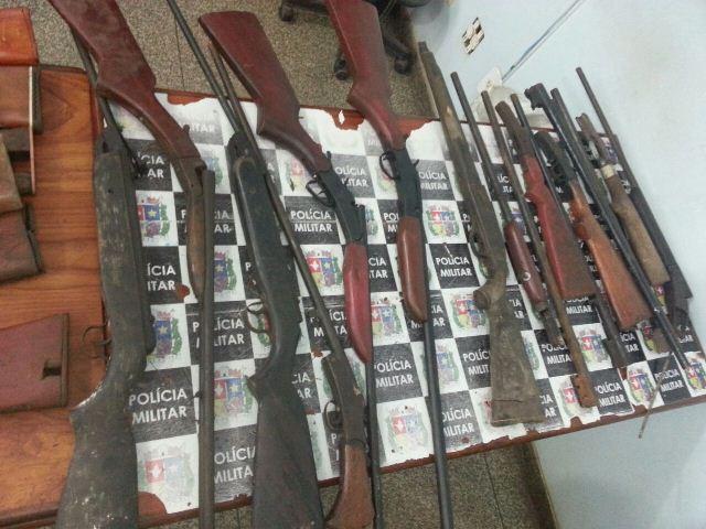 No total, 19 armas foram recolhidas nas duas oficinas. Reportagem e fotos: Jair Zemberg