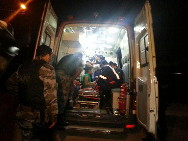 Uma das reféns foi atendida por uma equipe do Samu, mas sem ferimentos
