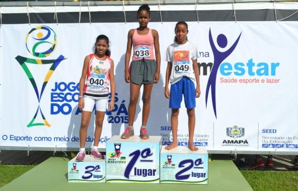 Meninas classificadas para disputar pelo Amapá os 100 metros na etapa nacional