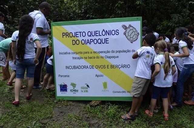 O projeto, que envolve crianças da rede pública de ensino, tem apoio do Ibama e do Instituto Chico Mendes