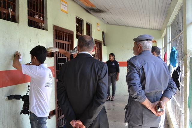 A inspeção foi acompanhada pela Fcria, OAB e polícia
