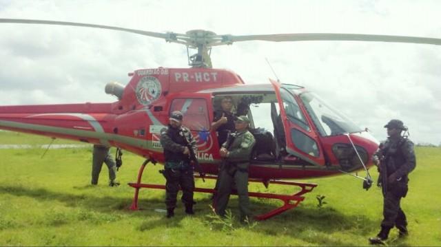 O helicóptero da Polícia do Pará vai continuar as buscas pelo táxi de Wilson Brito