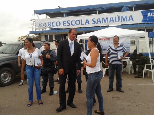 O secretário da Segurança Pública, Gastão Calandrine, participou da ação