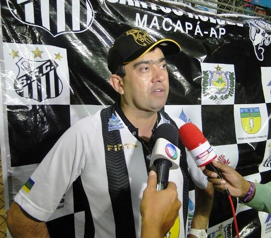 Luciano Marba, presidente de honra do Santos: o Santos jogou com campeão