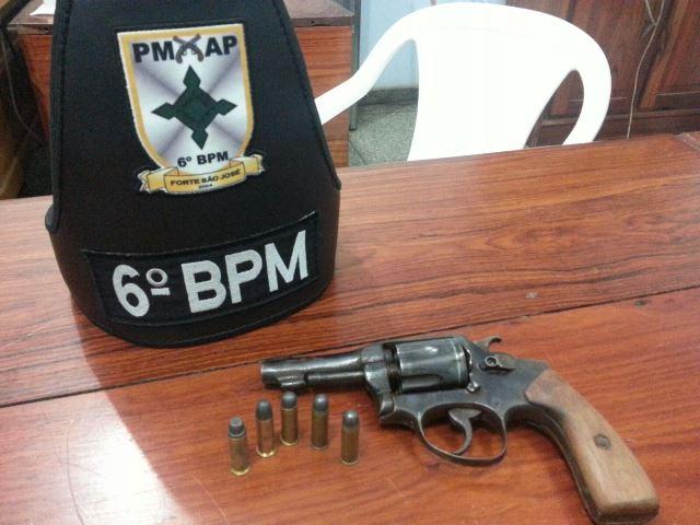 Revólver calibre 38 com numeração raspada