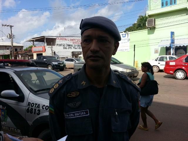 Tenente Coronel Paulo Matias, comandante do BRPM