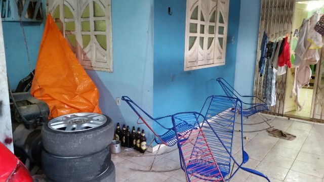 Na casa a polícia encontrou todo o material roubado