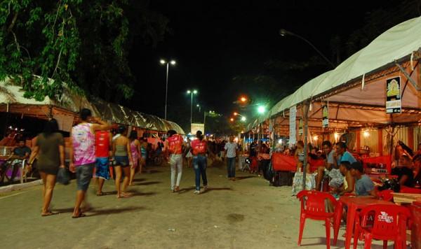 Serão montadas 60 barracas para comercialização de alimentos. Fotos: Divulgação