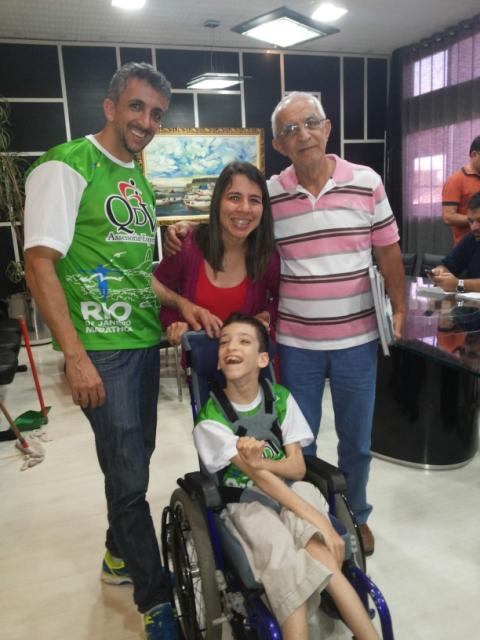 Gabrile com a família em visita a Macapá. Fotos: Cassia Lima