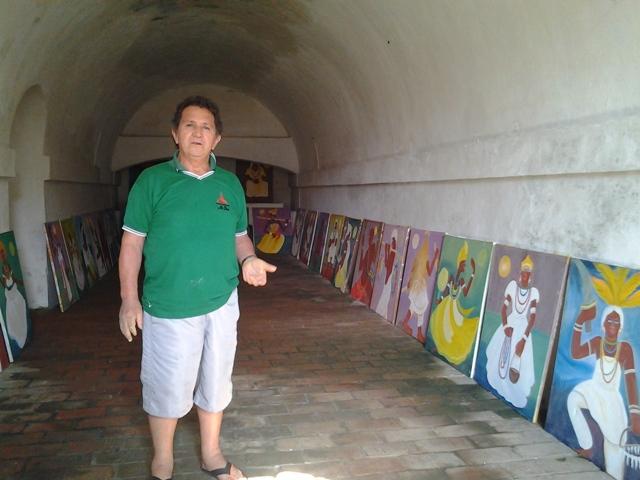 Carlos Prado com as obras na Fortaleza em 2015. Foto: arquivo pessoal