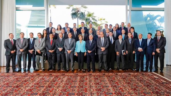 Brasília - DF, 30/07/2015. Presidenta Dilma Rousseff durante reunião com governadores no Palácio do Alvorada. Foto: Ichiro Guerra/PR