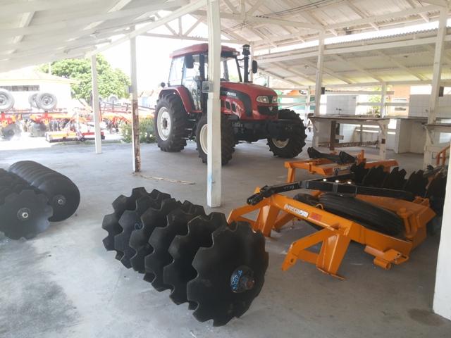 O espaço onde funcionavam as baias será destinado a exposições de produtos e equipamentos
