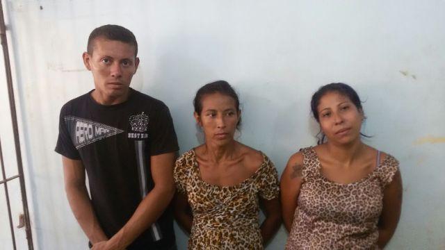 Toda a família foi presa em uma área de pontes no Cidade Nova