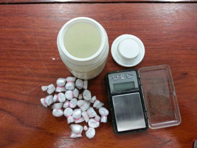 Drogas encontradas na casa de Copala. Fotos: Jair Zemberg