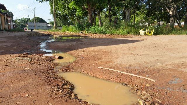 Ruas sem asfaltamento