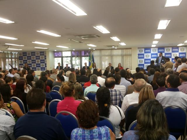 A apresentação da nova secretaria contou com a presença de prefeitos de vários municípios