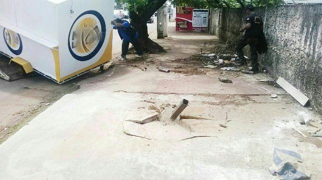 Alguns trailers estavam chumbado no chão. Fotos: Ascom/PMM