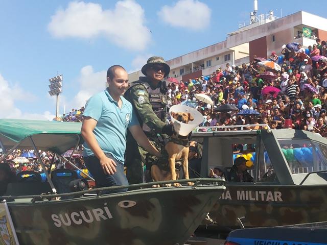 Costelinha, em carro do Batalhão Ambiental, levantou o público no Sambódromo