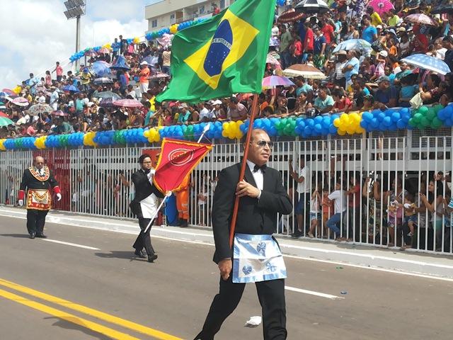 Entidades civis também fizeram suas homenagens ao 7 de setembro, como a Loja Macônica
