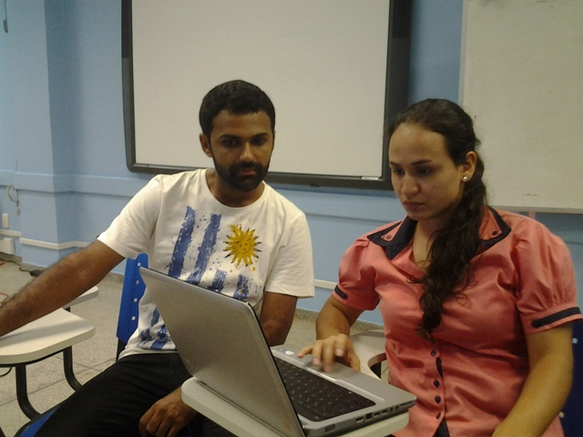 Rafael Saldanha e Lorena Sousa; Técnicos voltam ao trabalho, mesmo não concordando com a proposta do MEC. Fotos: André Silva