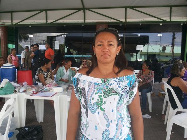Natalina Monteiro, do Sindsaúde: amanhã vamos deliberar sobre os rumos do movimento. Fotos: Cassia Lima