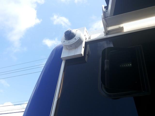 Uma das câmeras externas que alcança até 700 metros com visão nítida