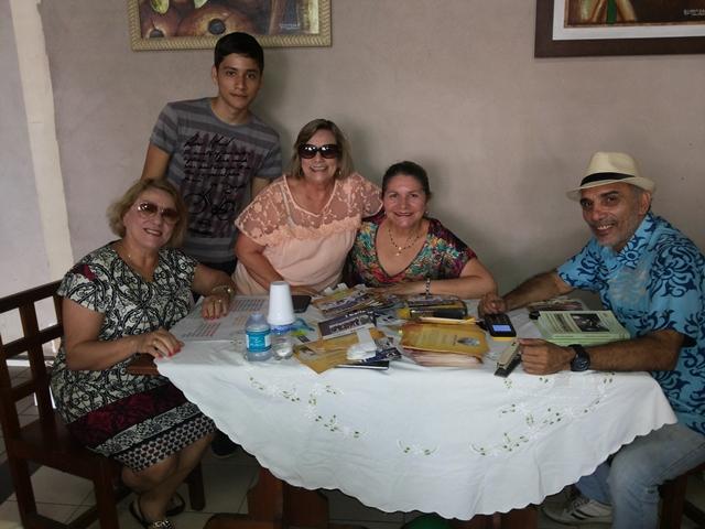 Walter Júnior, com amigos de Fortaleza que vieram para o evento