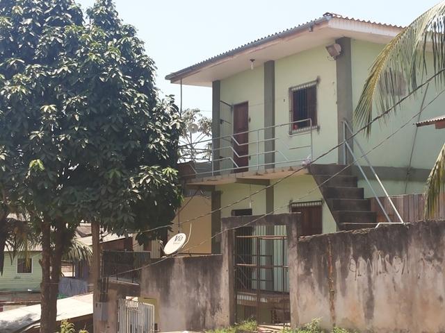 Casa que foi invadida por assaltantes no Bairro Novo Buritizal
