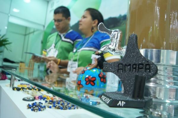 Estande do Amapá montado na Feira Internacional de Turismo. Fotos: AG~encia Amapá