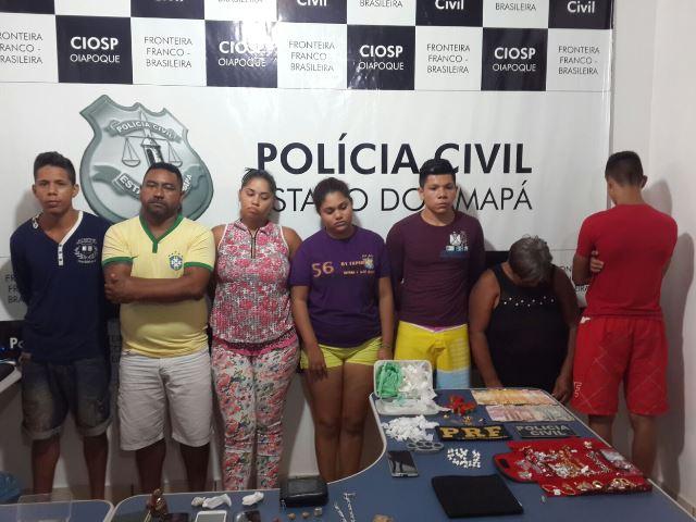 Das seis pessoas, quatro são da mesma família. Fotos: PC de Oiapoque