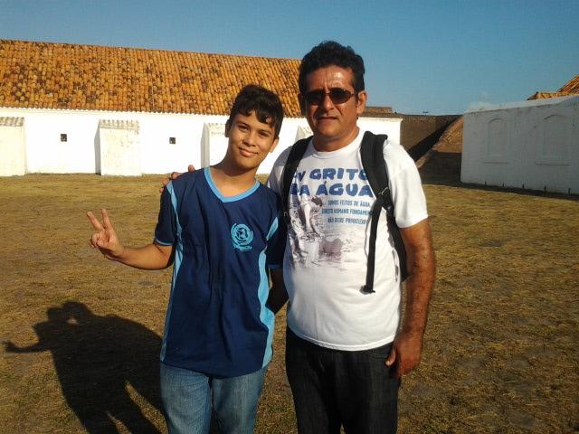 Acyr e Rafael: professor e aluno em busca de conhecimento. Fotos: André Silva