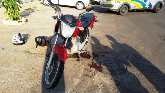 A moto usada no assalto foi apreendida pela polícia. Fotos: Seles Nafes