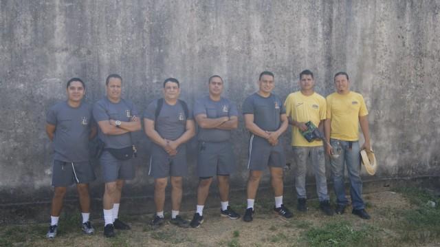Equipe do 8º Batalhão da PM responsável pela instalação das cameras. Fotos: 8º Batalhão
