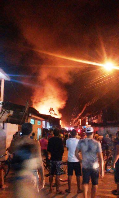 As chamas eram vistas de vários pontos