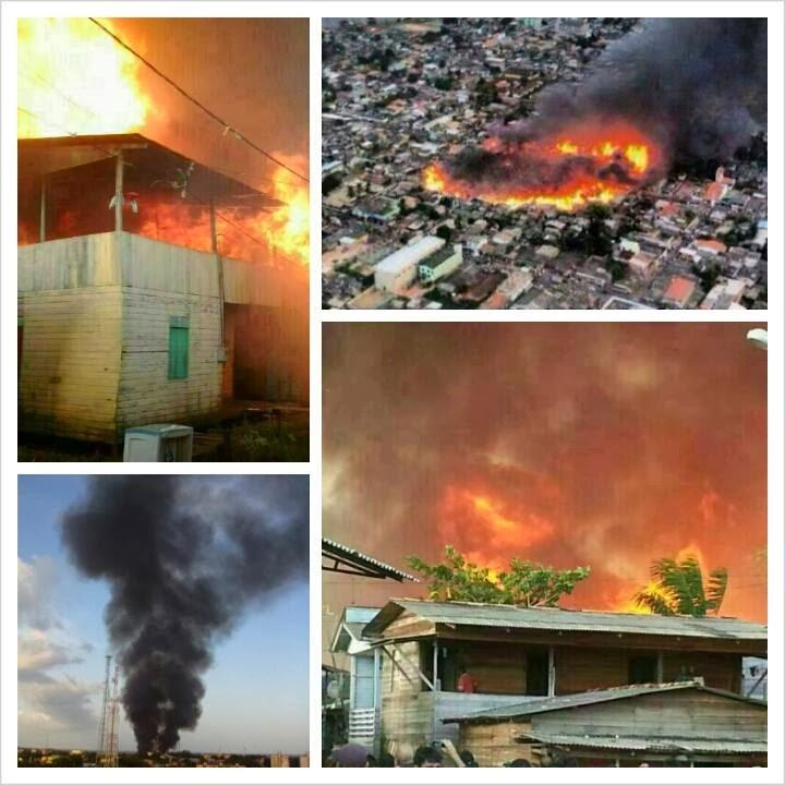 Incêndio do Perpétuo Socorro fotografado pelo passageiro de um avião e outros momentos do incêndio. Fotos: Arquivo