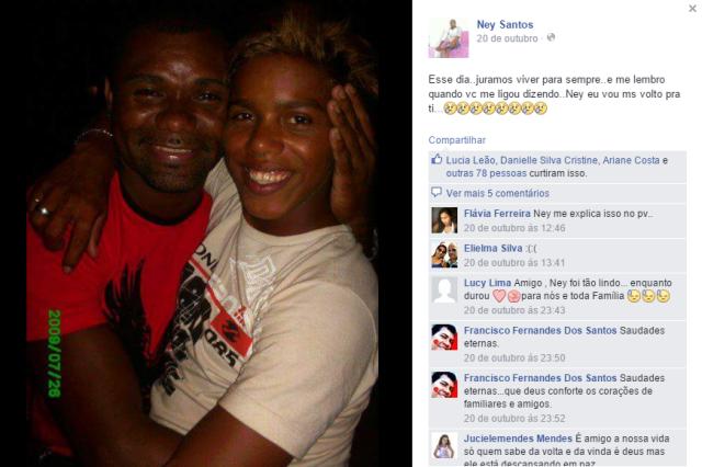 """Dedicatória posta no Facebook: """"Volto pra ti"""""""