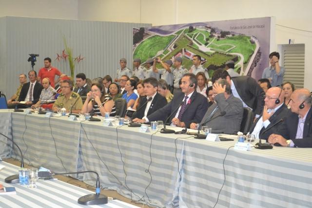 O governador Waldez Góes chefia a delegação brasileira no encontro. Fotos: André Silva