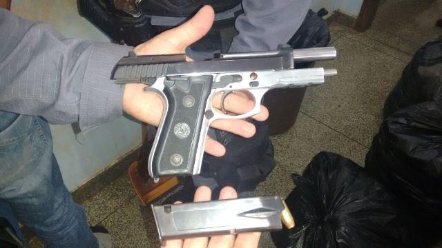 A arma usado pelo bandido. Foto cedida pelo BRPM