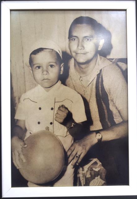 Com o pai, o primeiro delegado de polícia de Macapá