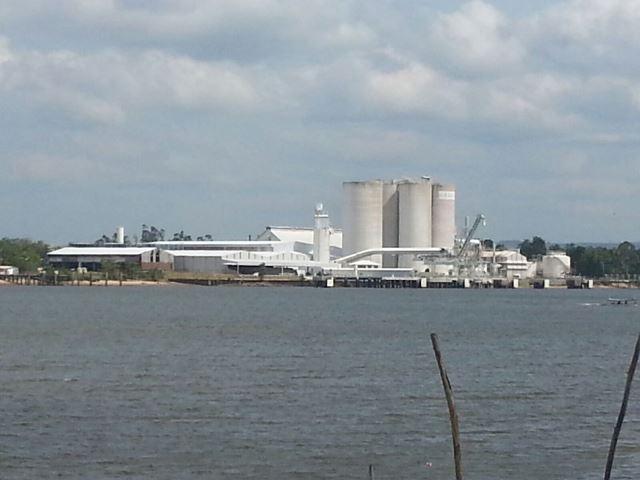 Fábrica da Cadan funciona ao lado da Jari Celulose, mas sem a coluna gigantesca de fumaça negra. Imagens: Gesiel Oliveira