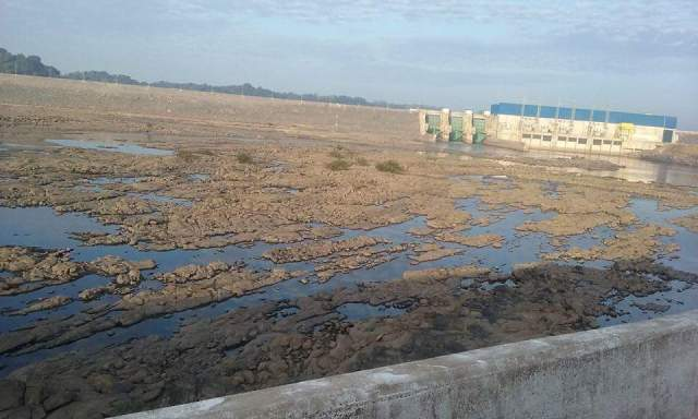Trecho do reservatório seco