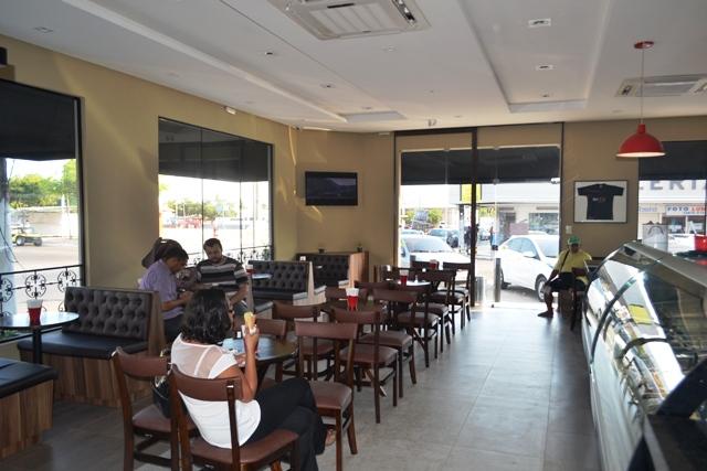 Novo espaço para degustação de sorvetes e gelatos da Santa Clara, no Bairro Santa Rita. Fotos: André Silva