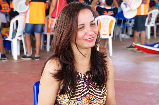 Marcivânia Flexa em uma das plenárias da Emenda Participativa. Foto: Ascom