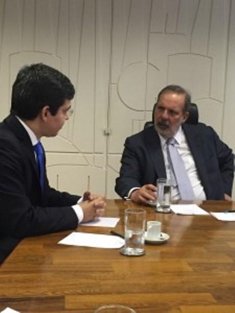 Senador Randolfe com o ministro de Desenvolvimento Econômico